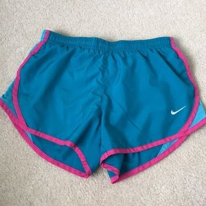 Blue and pink NIKE Running shorts
